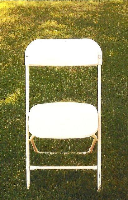 White Chairs for rent New Paris Tent Rentals