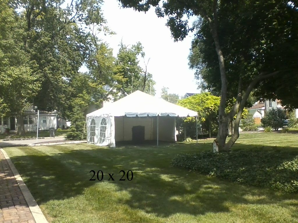 20x20 tent for rent elkhart county ind