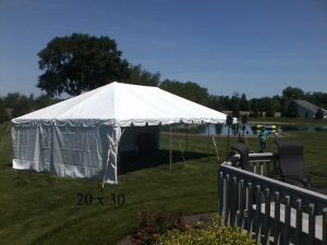 20x30 tent for rent elkhart county indiana