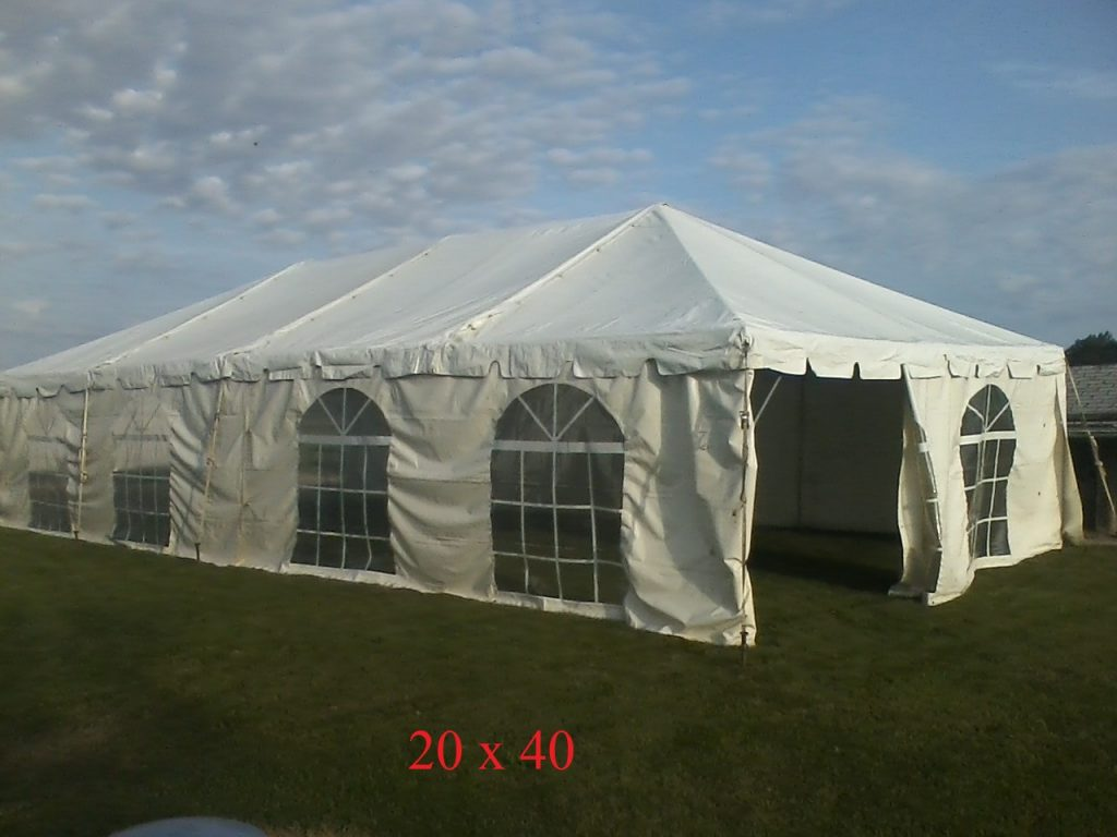 20x40 tent rental