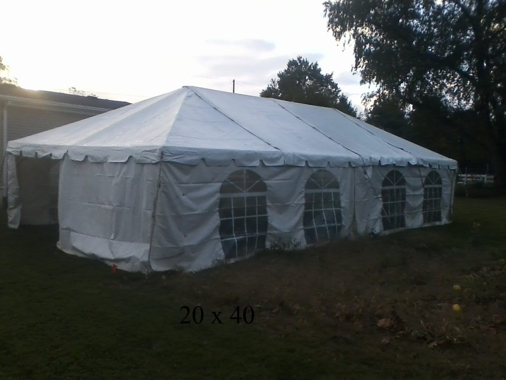20x40 tent rental for party elkhart county