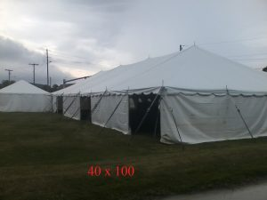 40x100 big tent for rent events