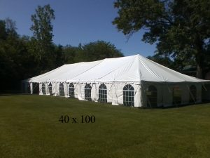 40x100 tent for rent Elkhart Kosciusko county