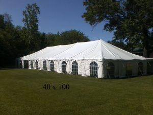 40x100 tent for rent Elkhart Kosciusko county