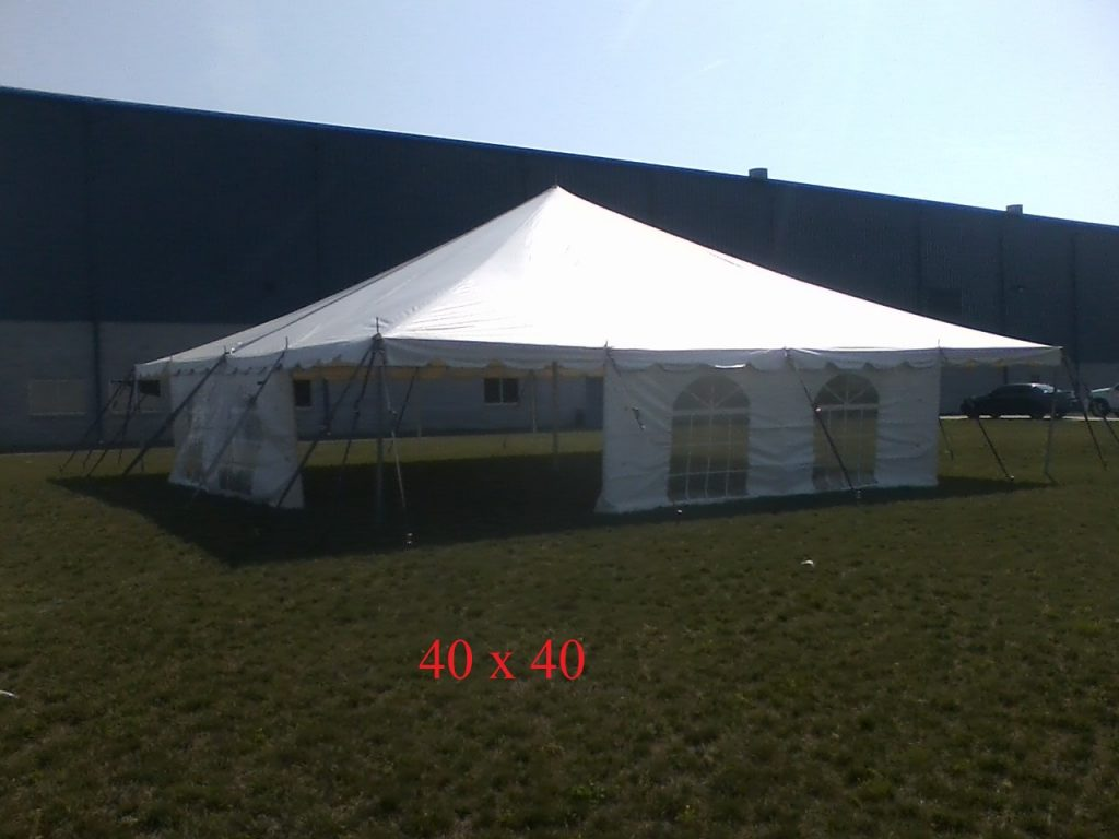 40x40 tent for company party rental