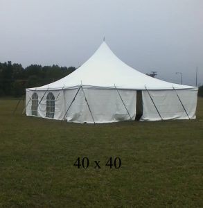 40x40 tent for event rental