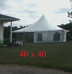 40x40 tent for hire