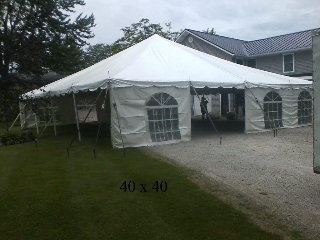40x40 tent for rent