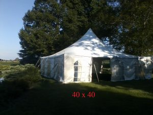 40x40 tent with sides for rent