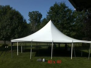 40x40 tent without sides for rent