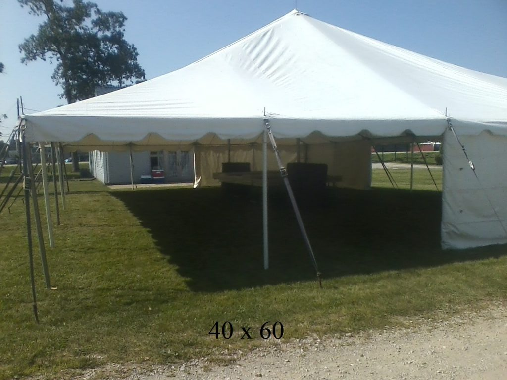 40x60 event tents available elkhart kosciusko county ind
