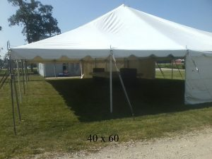 40x60 event tents available elkhart kosciusko county ind