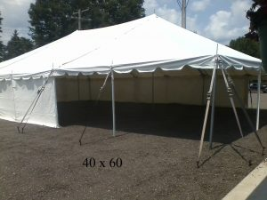 40x60 tent for rent elkhart county