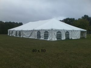 40x80 enclosed tent for rent