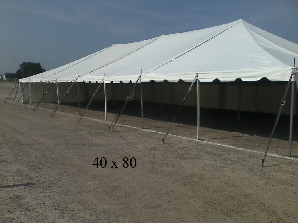 40x80 rental tent elkhart county indiana