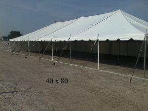 40x80 rental tent elkhart county indiana