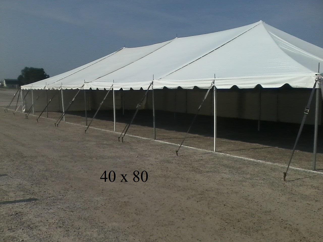 40 215 80 Rental Tent Elkhart County Indiana New Paris Tent