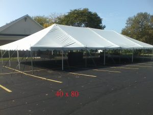 40x80 tent for outdoor party rental