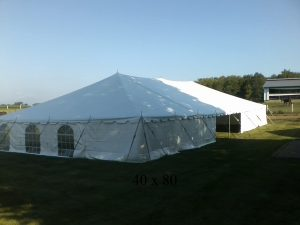 40x80 tent for rent New Paris ind