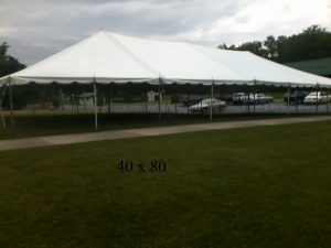 40x80 tent rental for events elkart county indiana