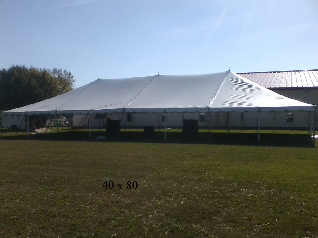 40x80 tent rented by new paris tent rentals