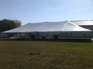 40x80 tent rented by new paris tent rentals