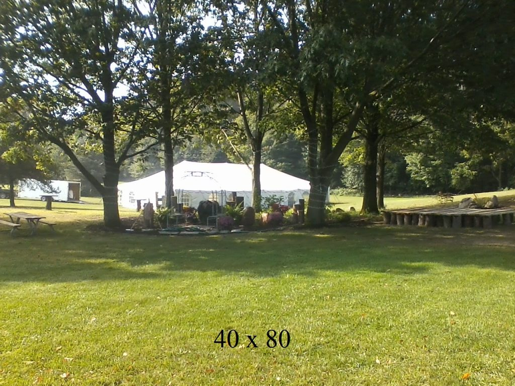 40x80 tents available to rent elkhart county ind