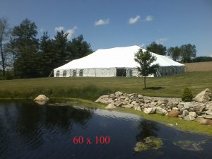60x100 tent for rent elkhart county