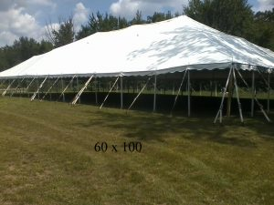 60x100 tent for rent elkhart county indiana