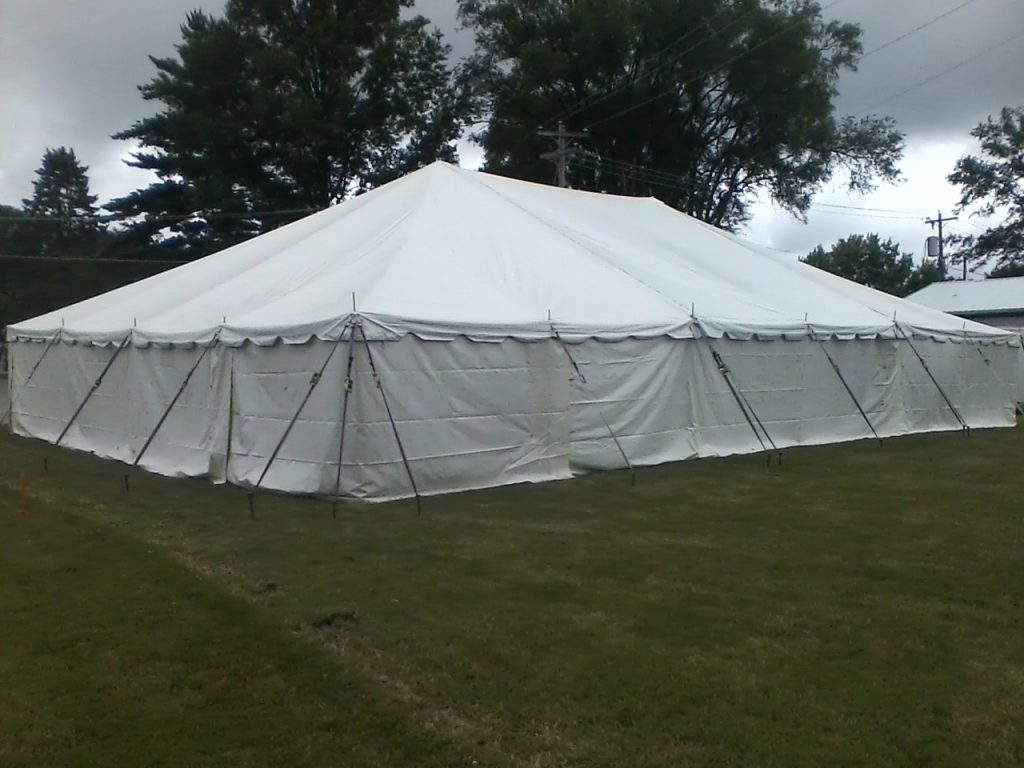 enclosed tent for rent elkhart county indiana