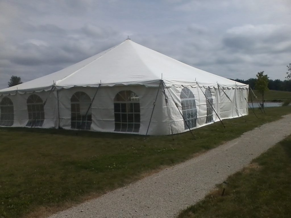 enclosed tents for rent indiana