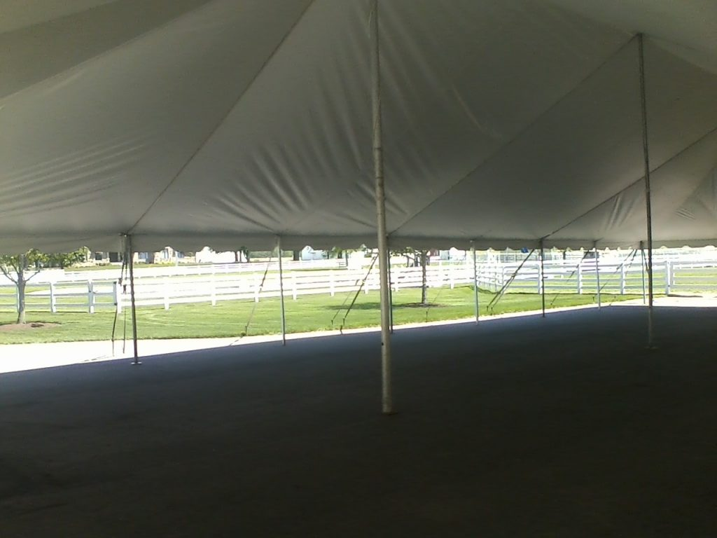 space inside tent for rent elkhart indiana