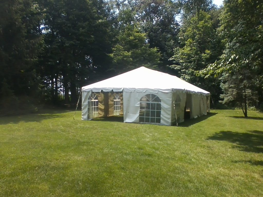 tent with windows for rent elkhart county